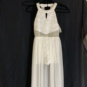 NWT Girls size 10 white dress